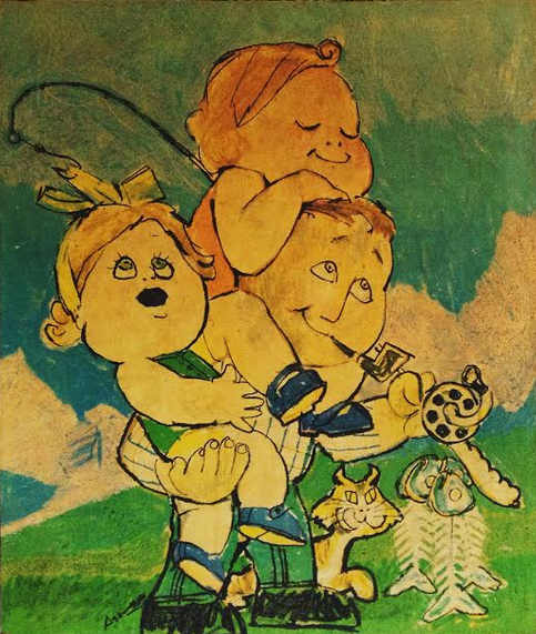 Ilustração feita para a Pais&Filhos em 1969
