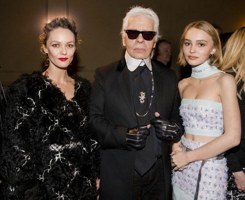 Lily-Rose Depp, Karl Lagerfeld e Vanessa Paradis
