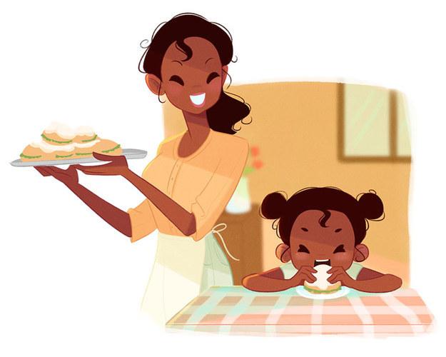 Tiana Vida de mãe: Tiana tem problemas em fazer com que sua filha de quatro anos coma qualquer coisa que não sejam rosquinhas. Ela está tão desesperada para que sua filha coma legumes e verduras que começou a escondê-los no meio das rosquinhas.