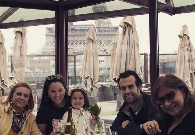 Neusa Saab, Mariana Belém, Laura, Cristiano Saab e Fafá de Belém