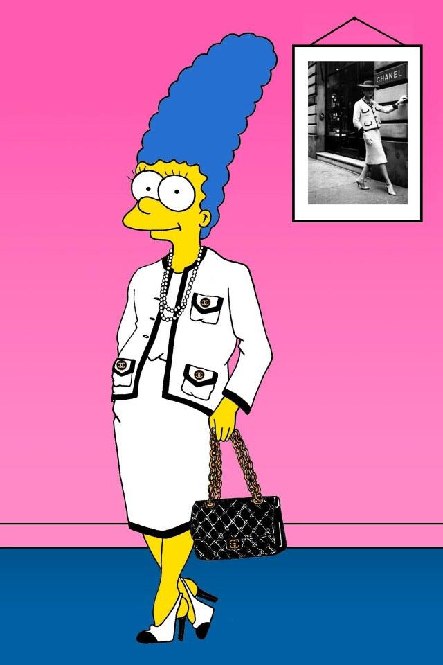 Marge Simpson de tweed, conjunto superfamoso da marca