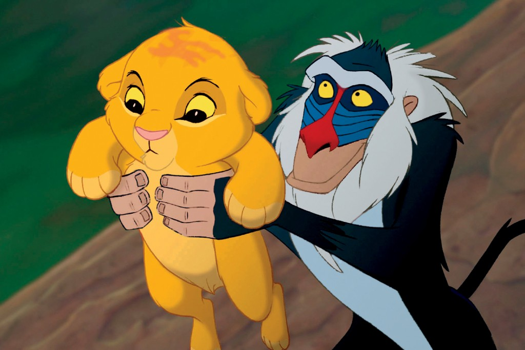 """THE LION KING"" (L-R) Simba, Rafiki ©Disney Enterprises, Inc.  All Rights Reserved."