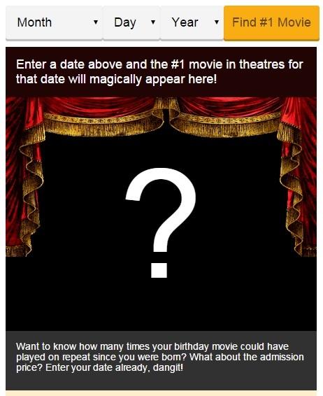 Saiba o filme no dia em que você nasceu