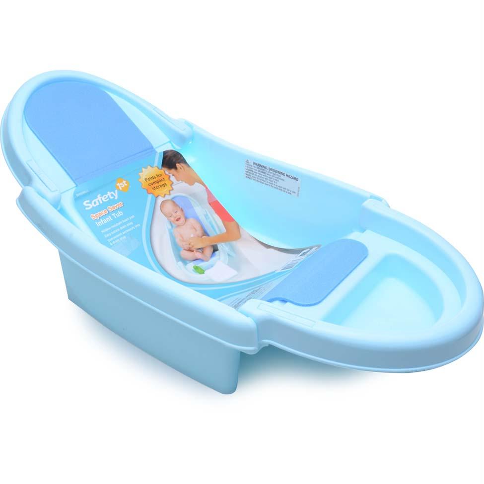 Banheira anatômica dobrável azul bebê Safety – na Tricae R$ 144,90