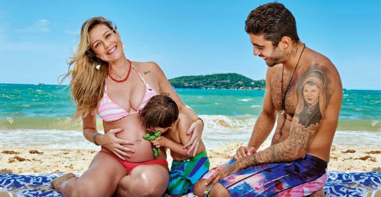 Luana Piovani grávida família