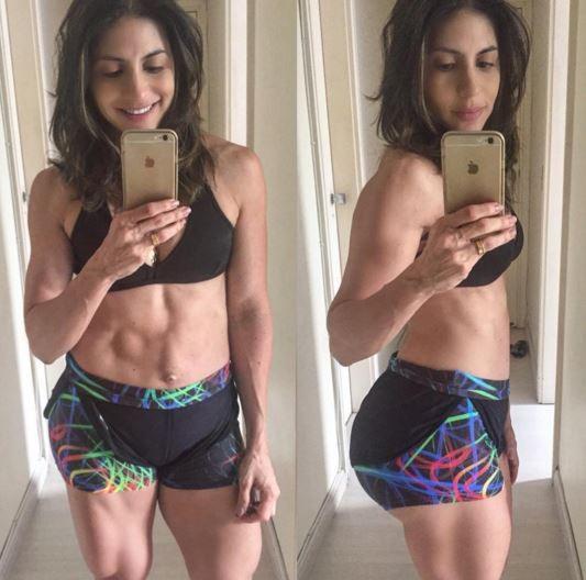 A nutricionista Gabriela Zugliani exibiu esta barriga dez dias depois de dar à luz
