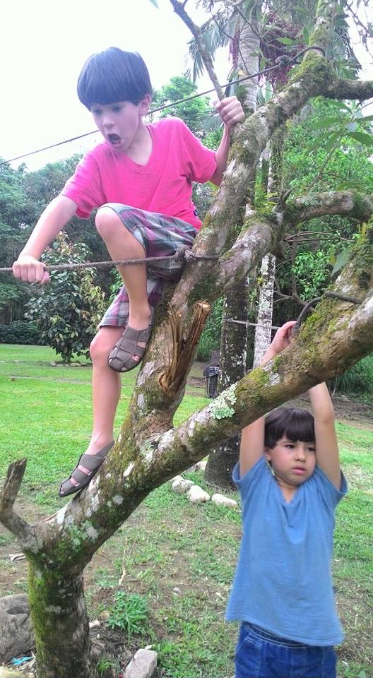 Andre e Samuel, 7 anos, filhos de Fabiana e Moises