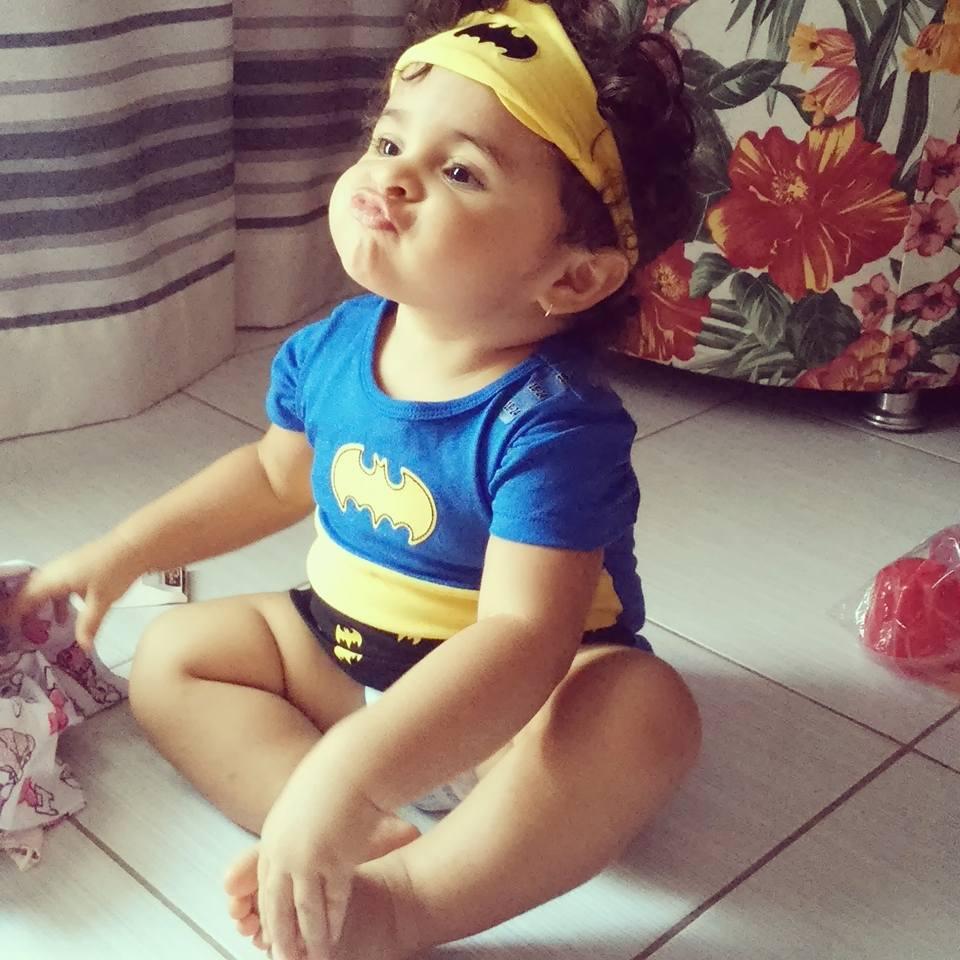 Clarisse, 1 ano, filha de Júnior e Rafaela