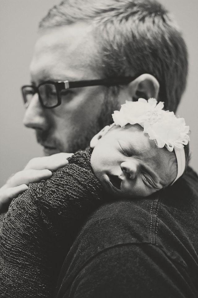 Eleanor com o pai