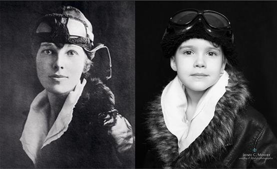 Amelia Earhart, a primeira mulher a atravessar o oceano atlântico pilotando um avião