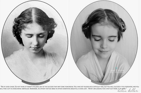 Helen Keller. Cega e surda, ela foi a primeira deficiente a conseguir se formar e se tornou uma escritora e filósofa famosa