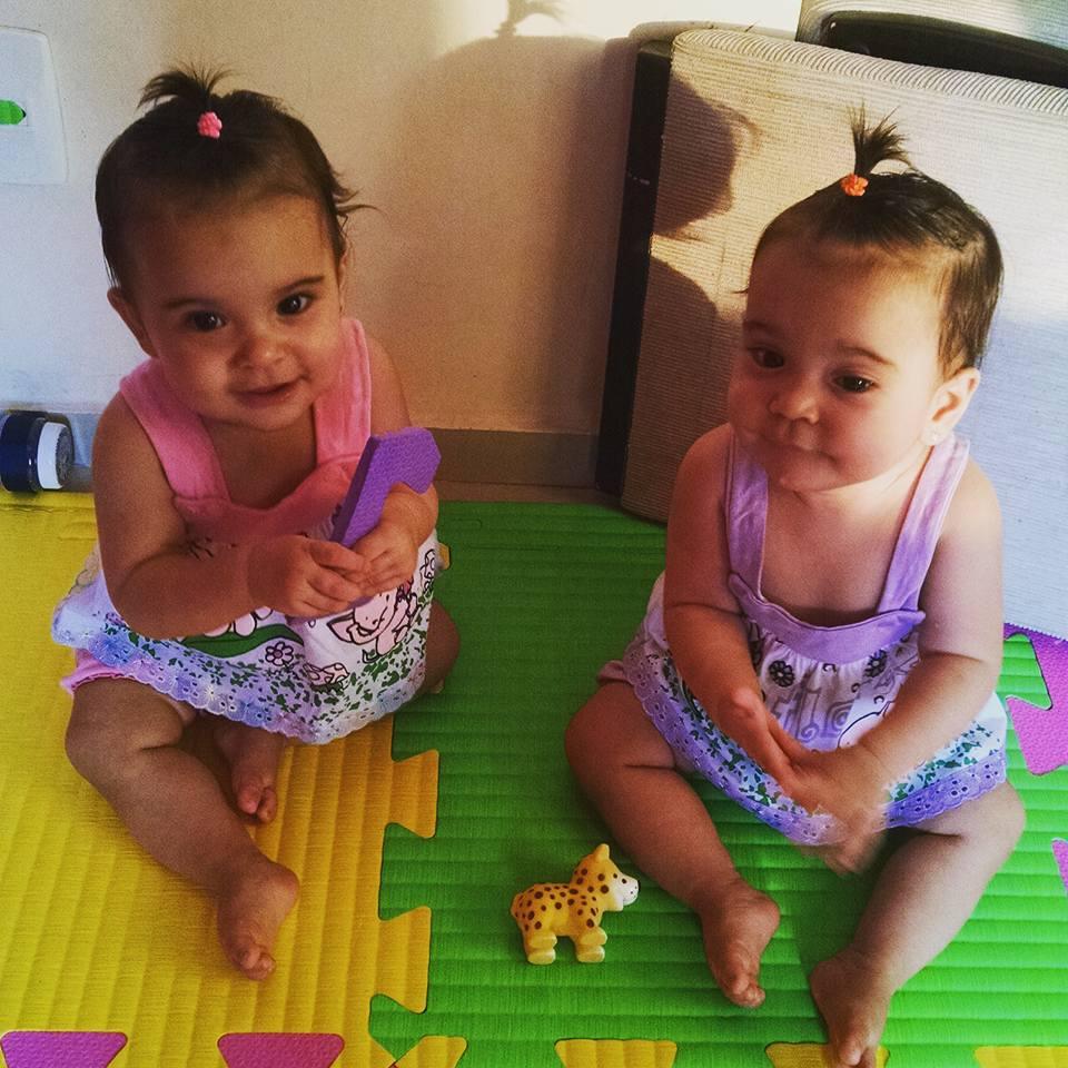 Giovanna e Jullia, 10 meses, filhas de Maísa e Marcus