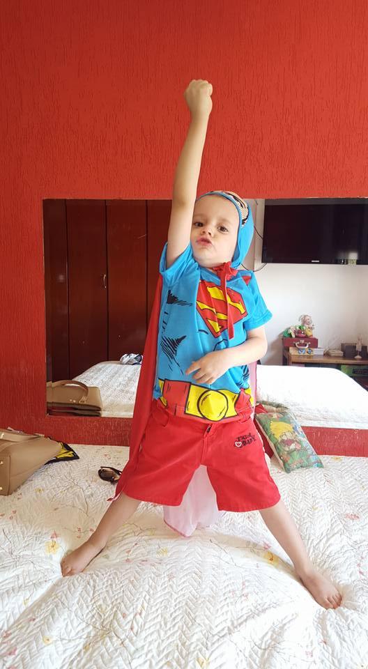 Henrique, 3 anos, filho de Pollyana e Josué