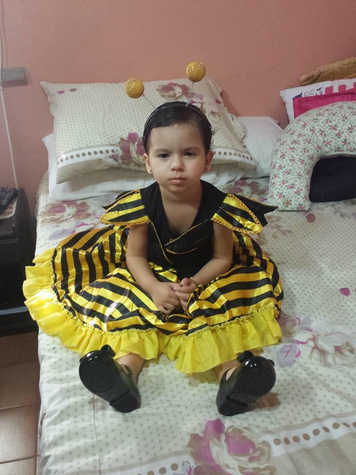 Isabela, 2 anos, filha de Hianna e João