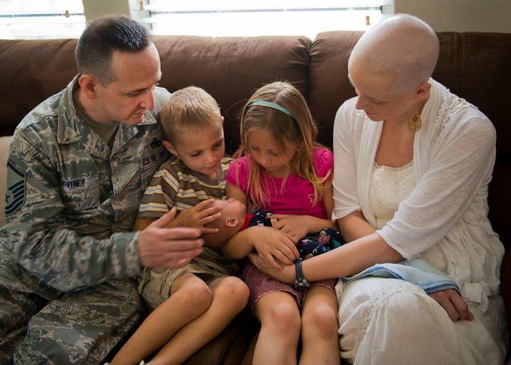 Kate com a família