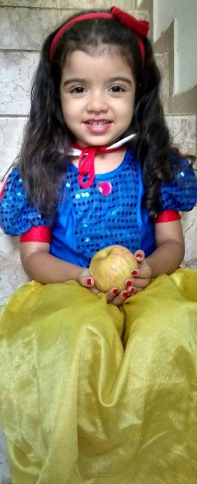 Lara, 3 anos, filha de Blanche e Bruno