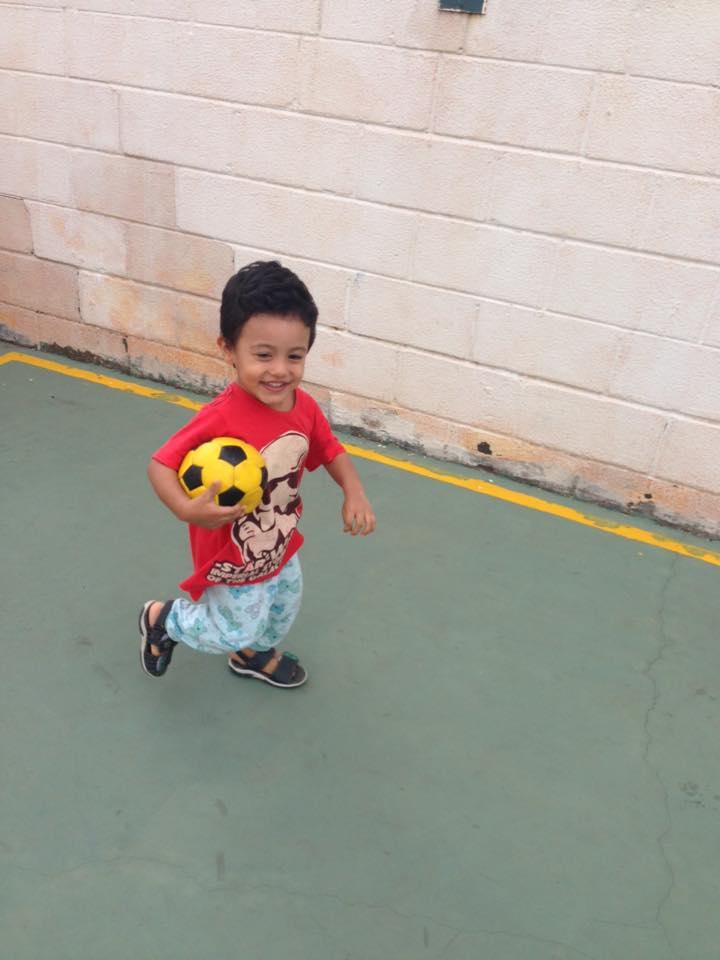 Leon, 2 anos, filho de Cristiane e Antônio