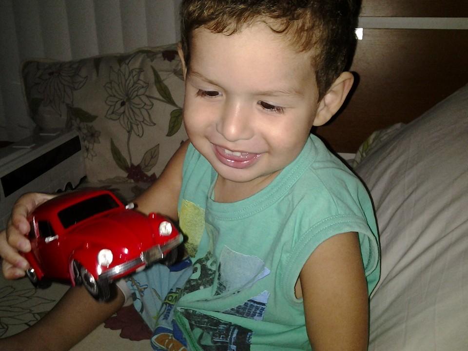 Lyan, 2 anos, filho de Nilma e Leandro