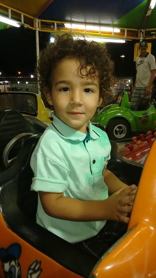 Matheus, 2 anos, filho de Maiara e Ueslei