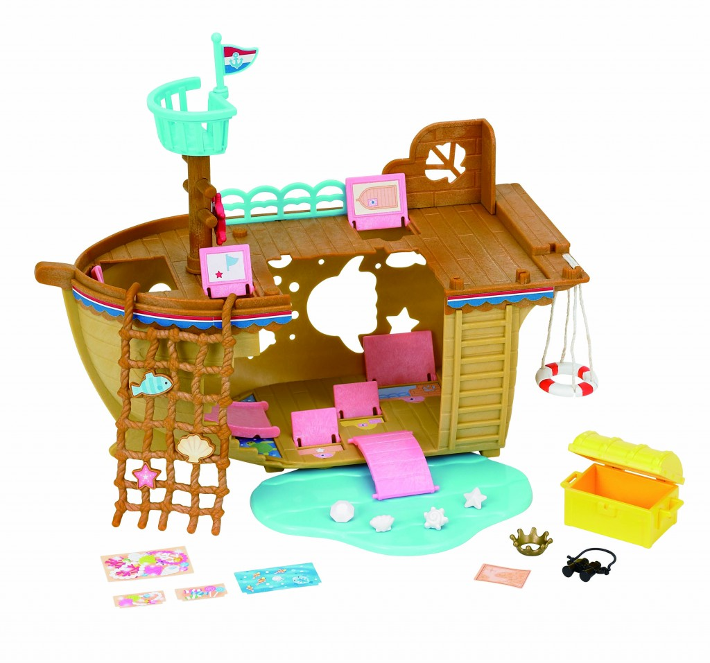 Navio do Tesouro Sylvanian Families R$ 199,00