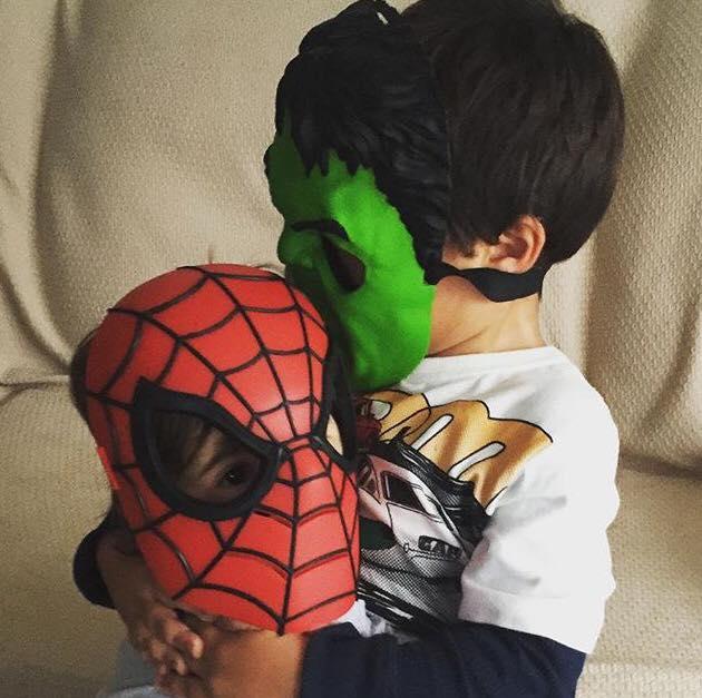 Pedro, 5 anos, e Beatriz, 1 ano, filhos de Rafaela e Felipe