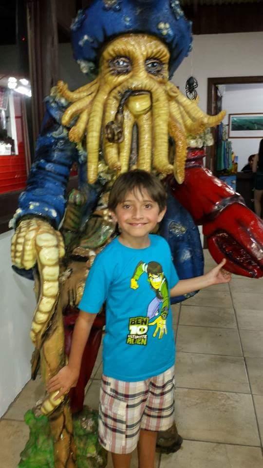 Pedro, 8 anos, filho de Cristiane e Alexandre