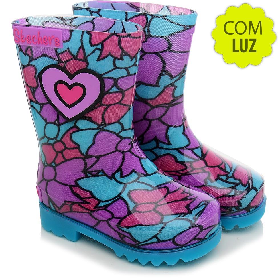 Skechers--Galocha-Infantil-Skechers-Lighted-Rain-Boot-Azul-e-LilC3A1s-5815-844901-1