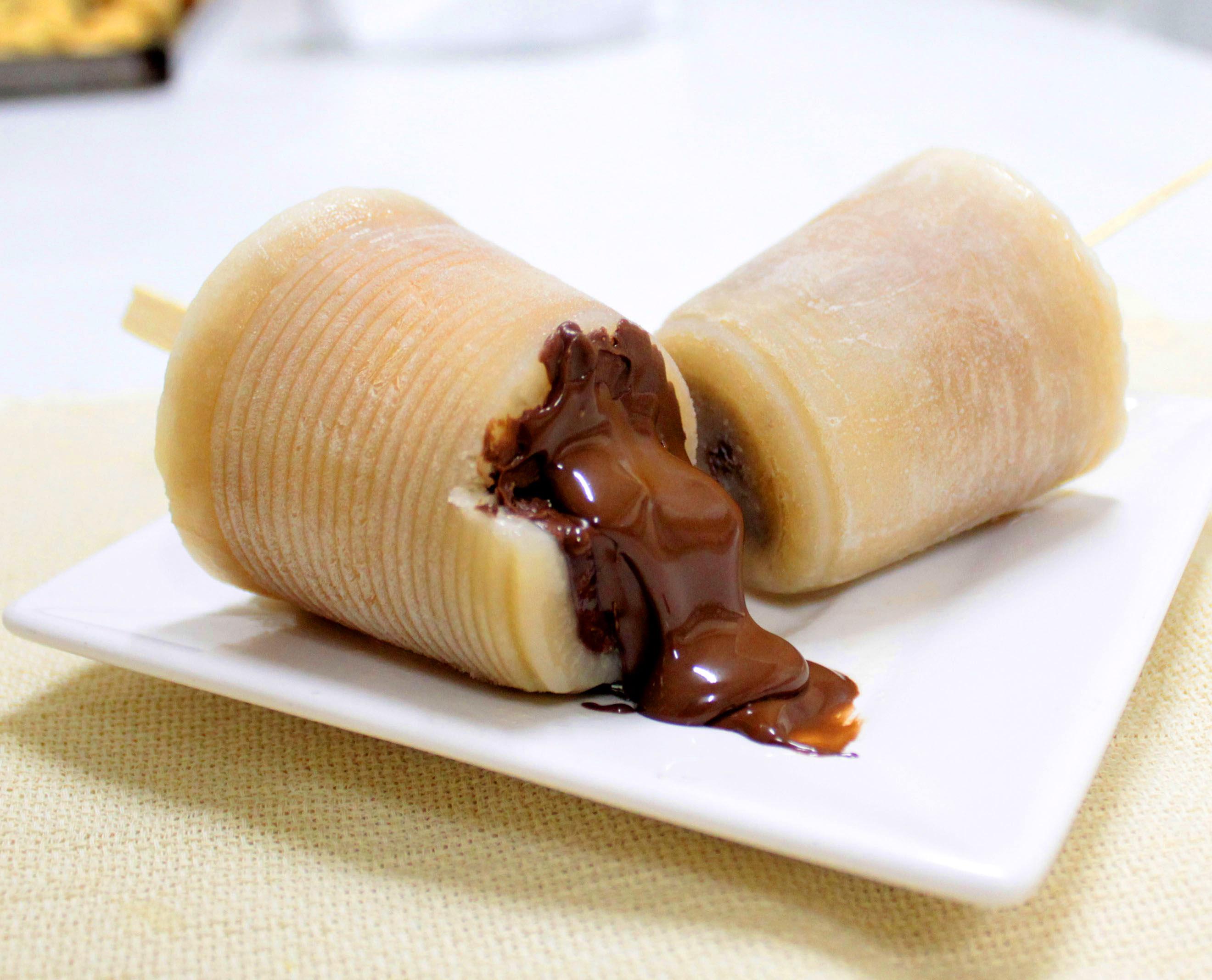 banana com creme de avelã