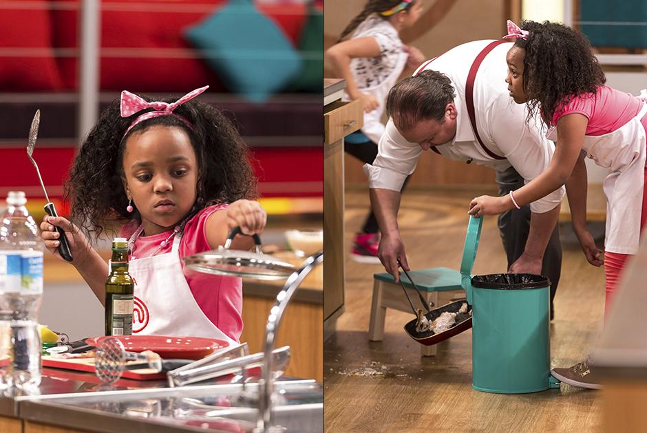 Aisha deixou o prato cair e Jacquin foi ajudar!