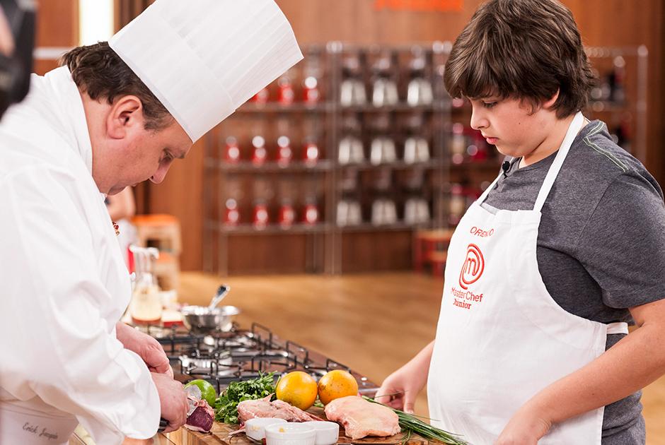 O chef Jacquin ensinando sua especialidade: comida francesa!