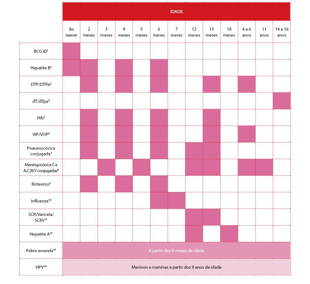 Calendário de vacinação 2015