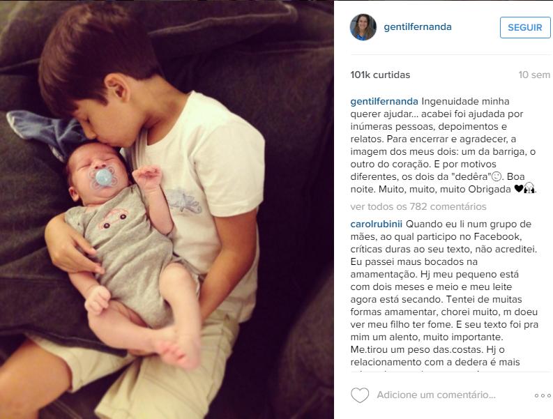 Fernanda Gentil e afilhado 2