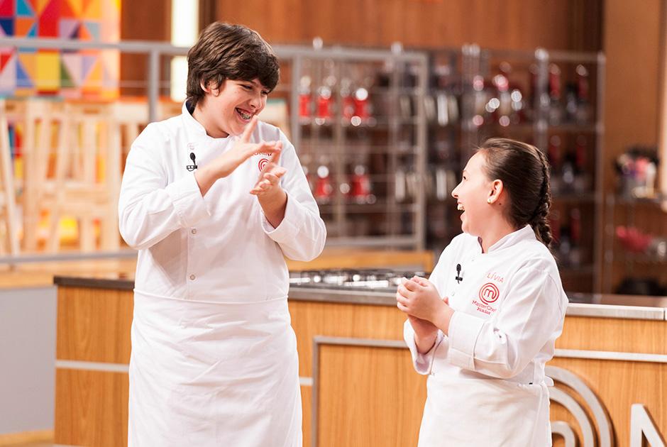 Os dois concorrentes estavam muito ansiosos! Foto: divulgação Band