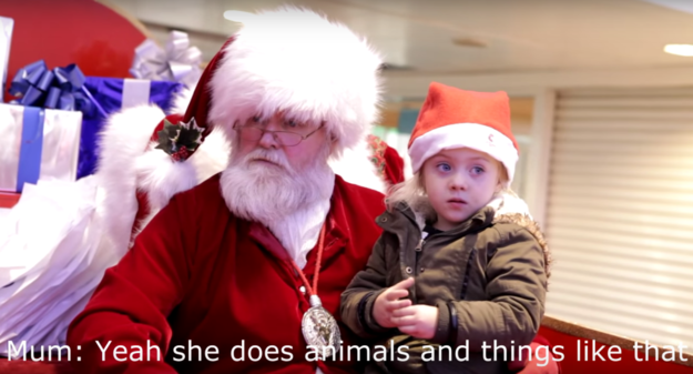Papai Noel com menina 3