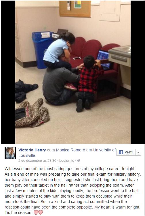 Professor cuida de filhos de aluna 2