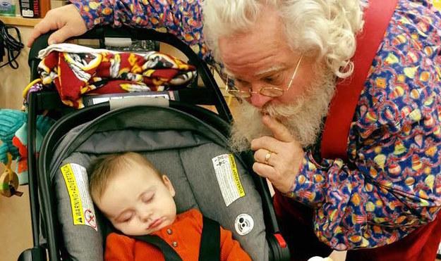 Zeke Walters com Papai Noel3