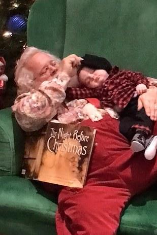 Zeke Walters com Papai Noel4