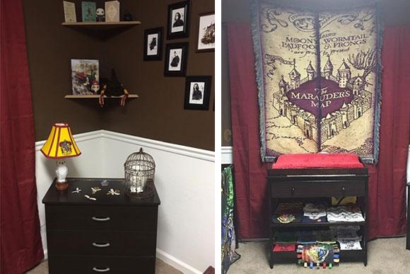O quarto do bebê está repletos de referências da história do Harry Potter (Foto: Reprodução Buzzfeed)