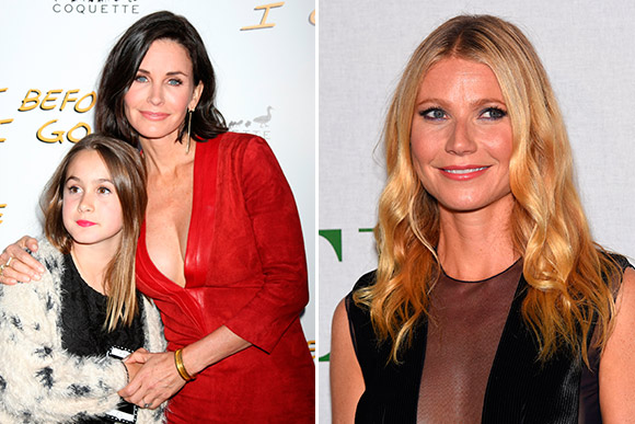 As atrizes Courtney Cox e Gwyneth Paltrow conseguiram superar a depressão pós - parto (Foto: Shutterstock)