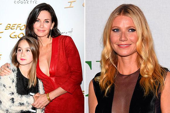 As atrizes Courtney Cox e Gwyneth Paltrow conseguiram superar a depressão pós - parto (Foto: Shutterstock)
