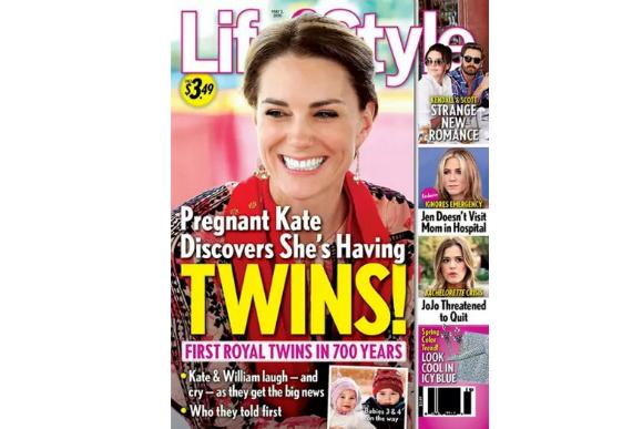 A revista inglesa LifeStyle revelou com exclusividade que gravidez de gêmeos de Kate (Foto: Reprodução)