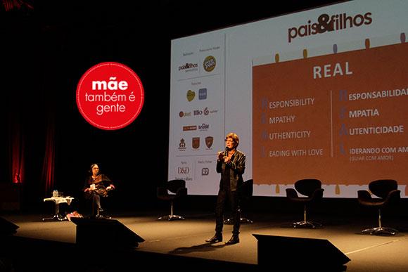 Melinda Blau em sua apresentação hoje no nosso seminário (Foto: Davi Valente/Pais&Filhos)