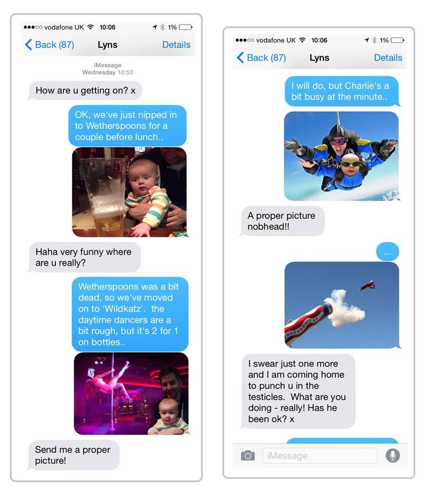 mensagens man vs baby