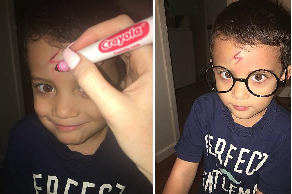 Ayden adorou se transformar em Harry Potter (Foto: Reprodução Imgur)