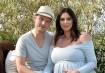 Nick Carter e a esposa Lauren Kitt ainda grávida
