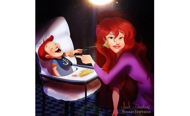 princesas Disney mães Ariel