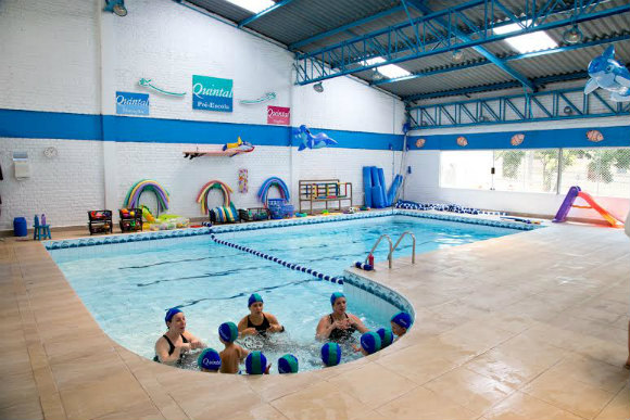 Foto: área da piscina na escola Quintal (Foto: Divulgação)