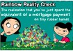 #16 A realidade do arco-íris: Faz parte também perceber que você já gastou quase o pagamento de um hipoteca em pequenos elásticos coloridos