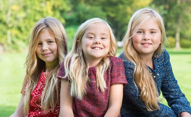 Princesas Catharina Amalia, Alexia and Ariane, filhas de Willem Alexander e Maxima Zorriguieta, da Holanda