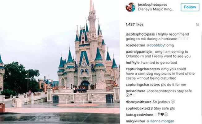 Furacão Matthew esvazia parques temáticos da Walt Disney World